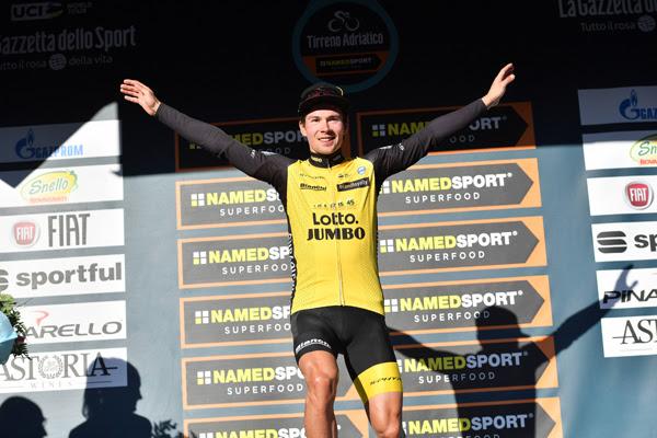 Примож Роглич – победитель 3 этапа Тиррено-Адриатико-2018