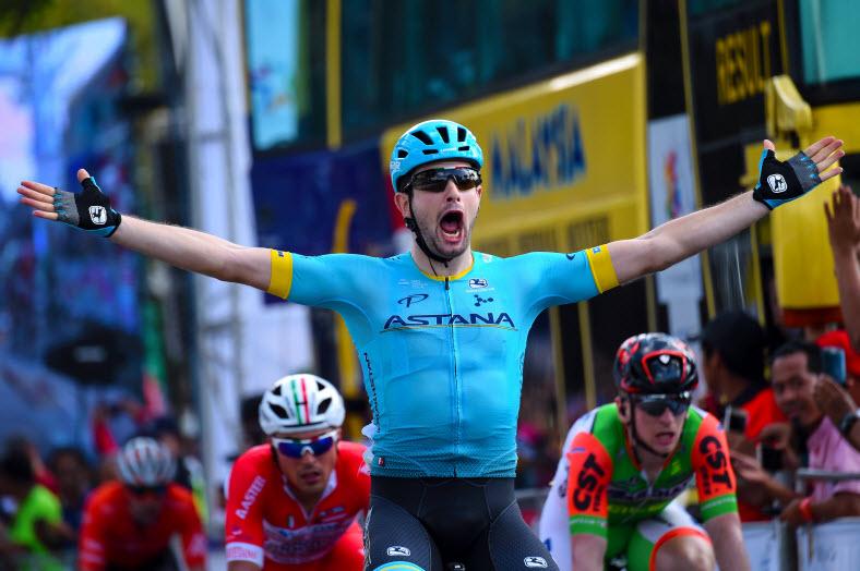 Риккардо Минали одерживает красивую победу на втором этапе Тур Лангкави-2018 и становится лидером гонки