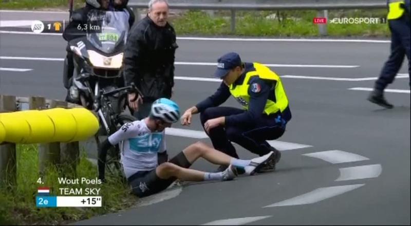Ваут Пулс сошёл с гонки Париж-Ницца-2018 после падения