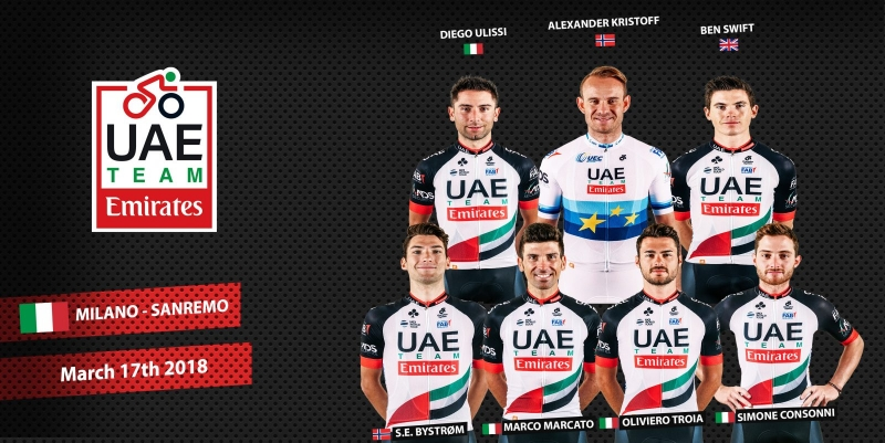 Александр Кристофф – капитан команды UAE Team Emirates на Милан-Сан-Ремо-2018