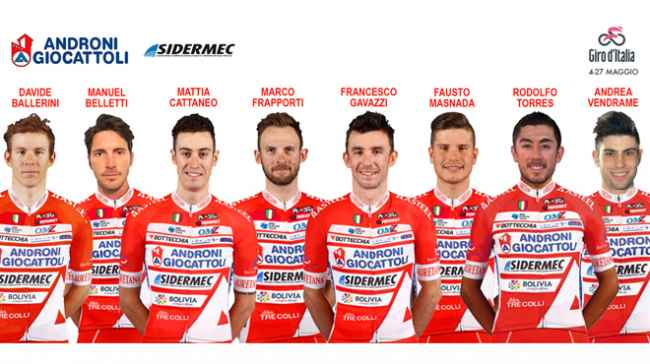 Команда Androni Giocattoli Sidermec объявила состав на Джиро д'Италия-2018
