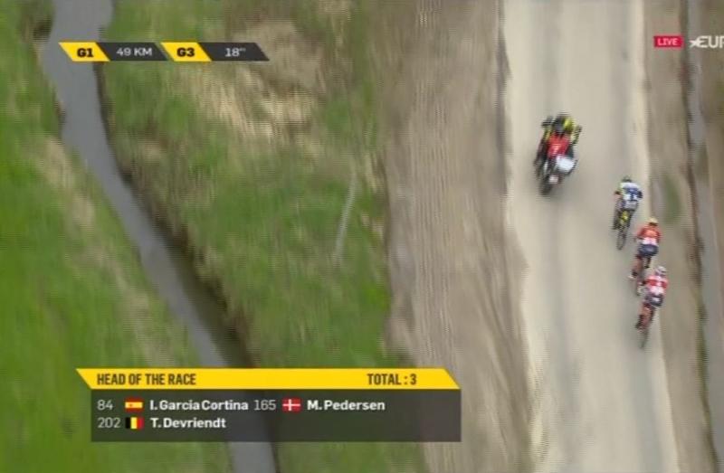 Дебютант Тура Фландрии-2018 Мадс Педерсен поднялся на вторую ступень подиума