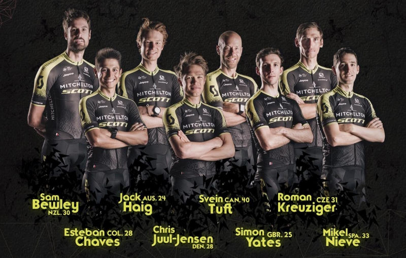 Состав команды Mitchelton-SCOTT на Джиро д'Италия-2018