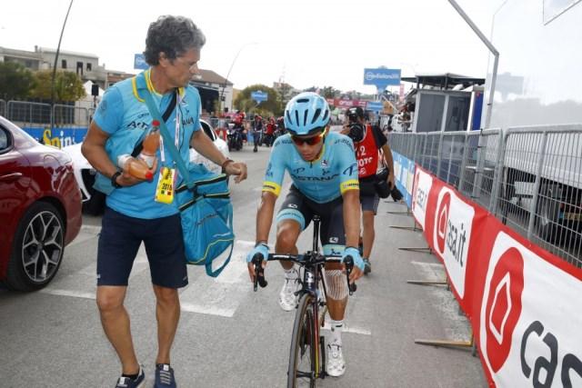 Джиро д'Италия-2018. Этап 5. Падение Лопеса в финале, Бильбао участвует в спринте