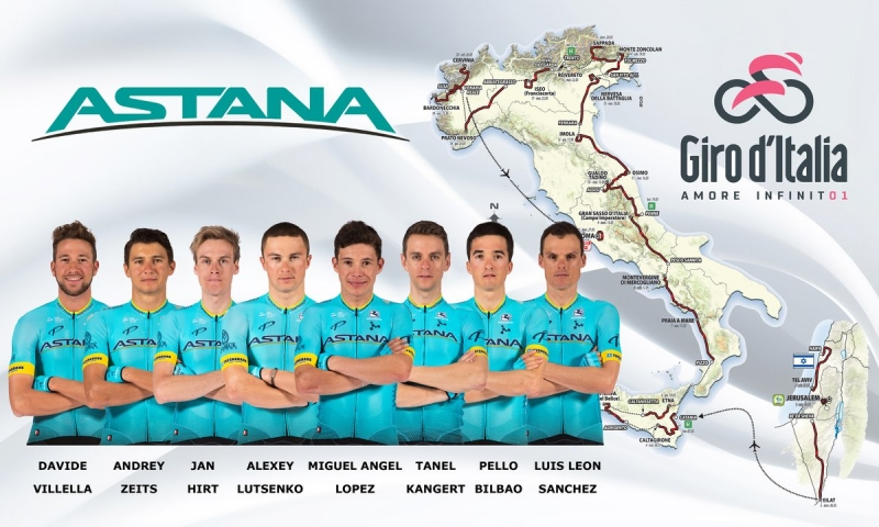 Состав команды Astana на Джиро д'Италия-2018