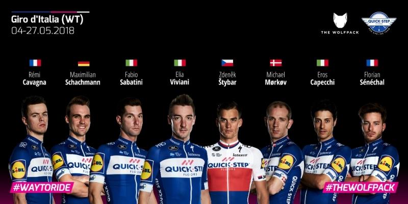 Состав команды Quick Step Floors на Джиро д'Италия-2018