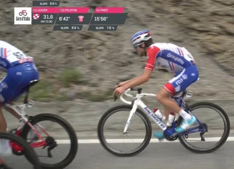 Тибо Пино доставлен в больницу после финиша 20 этапа Джиро д'Италия-2018
