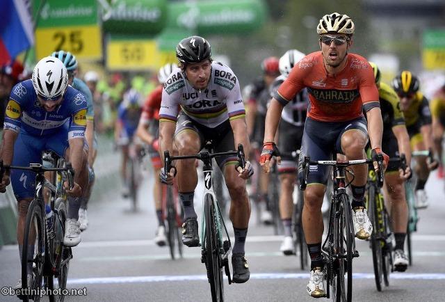Сонни Кольбрелли, Фернандо Гавирия, Петер Саган о 3-м этапе Тура Швейцарии-2018