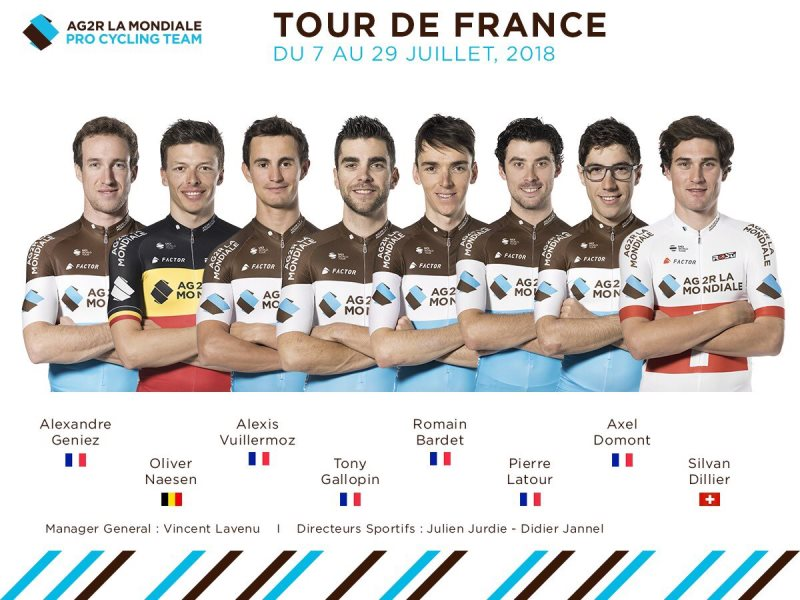Состав команды AG2R La Mondiale на Тур де Франс-2018