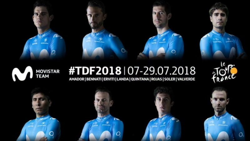 Состав команды Movistar на Тур де Франс-2018