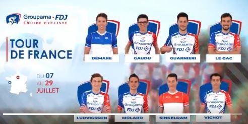 Состав команды Groupama-FDJ на Тур де Франс-2018
