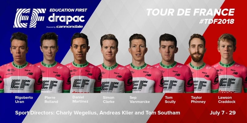 Состав команды EF Education First-Drapac на Тур де Франс-2018