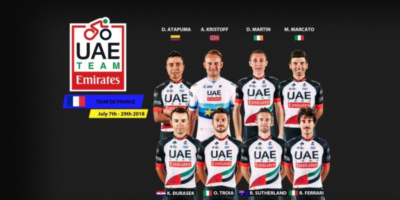 Состав команды UAE Team Emirates на Тур де Франс-2018