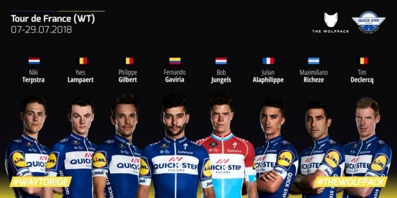 Состав команды Quick Step Floors на Тур де Франс-2018