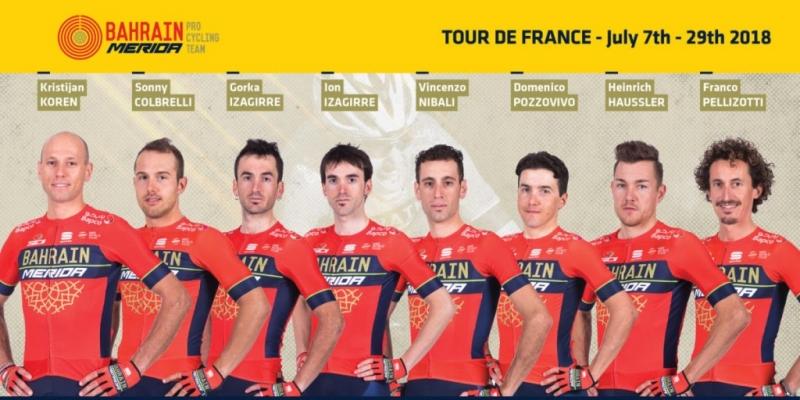 Состав команды Bahrain Merida на Тур де Франс-2018