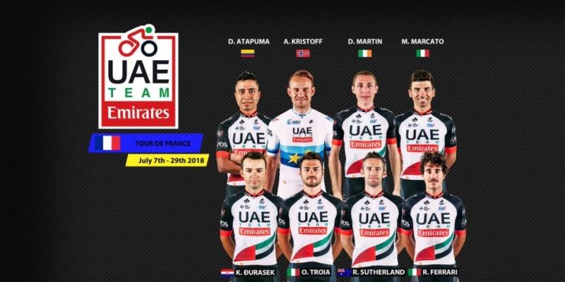 Состав команды UAE Team Emirates на Тур де Франс-2018