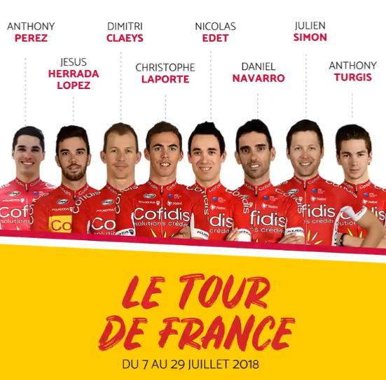Состав команды Cofidis на Тур де Франс-2018