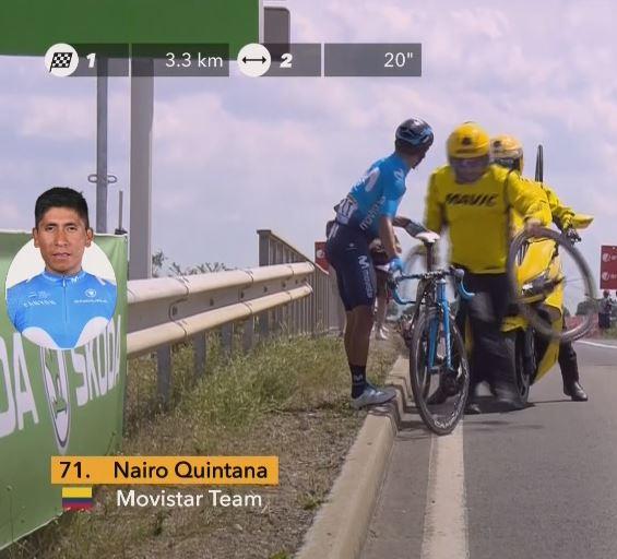 Наиро Кинтана, Микель Ланда, Эусебио Унсуэ и Алехандро Вальверде о 1-м этапе Тур де Франс-2018