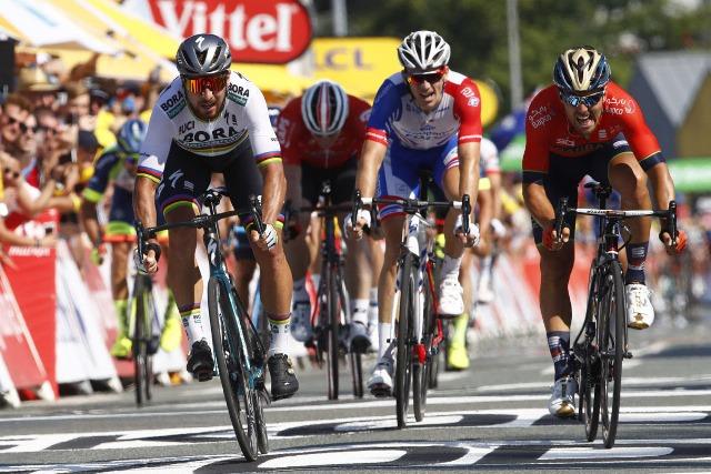 Петер Саган, Сонни Кольбрелли, Арно Демар о 2-м этапе Тур де Франс-2018