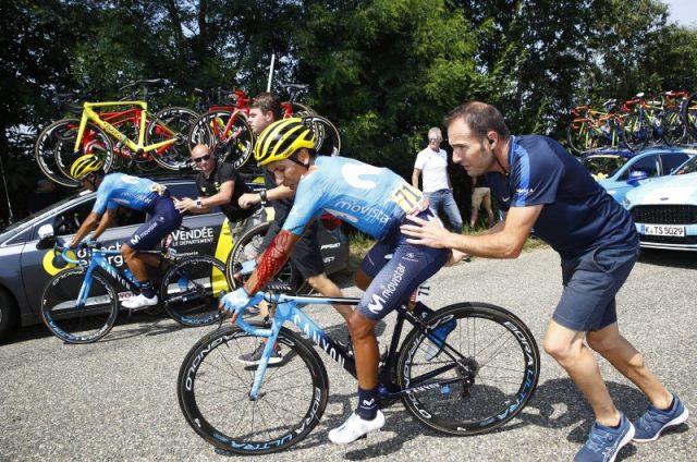 Наиро Кинтана получил ссадины и ушибы, упав на 18-м этапе Тур де Франс-2018