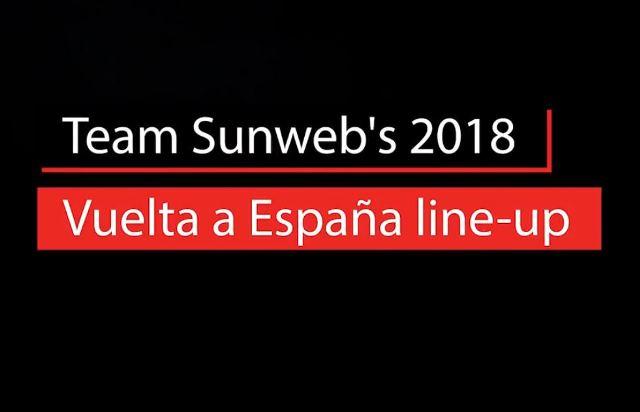 Состав команды Sunweb на Вуэльту Испании-2018
