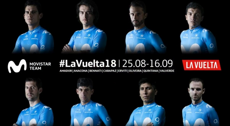Состав команды Movistar на Вуэльту Испании-2018