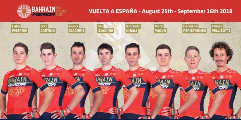 Состав команды Bahrain-Merida на Вуэльту Испании-2018