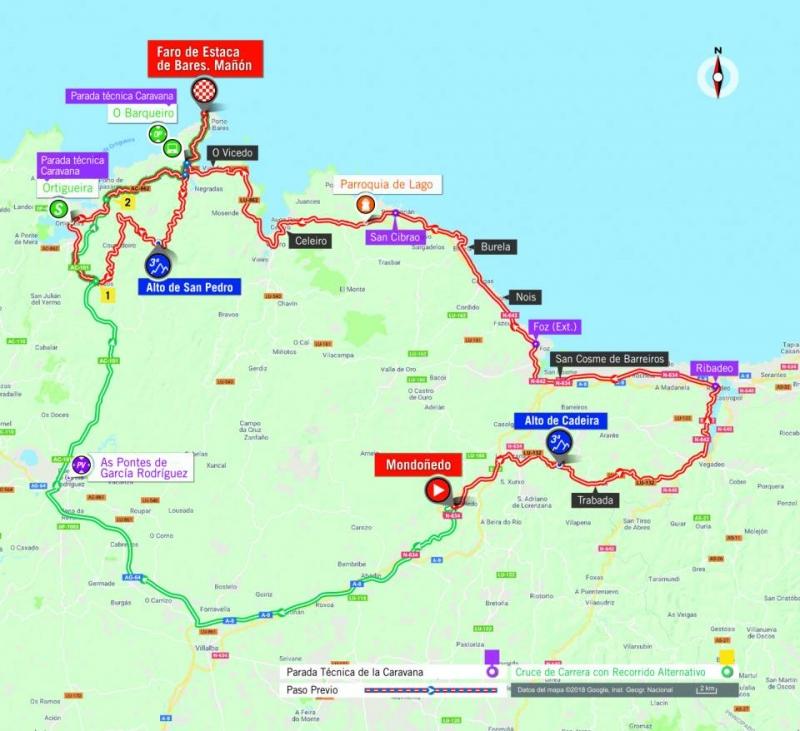 Вуэльта Испании-2018, превью этапов: 12 этап, Мондоньедо - Маньон, Маяк Эстака-де-Барес