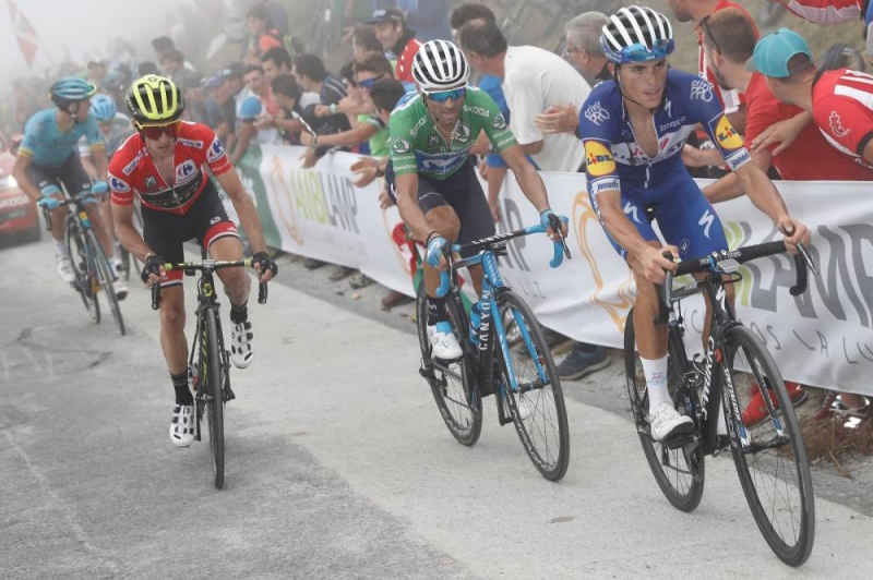 Саймон Йейтс, Алехандро Вальверде, Наиро Кинтана, Энрик Мас о 17-м этапе Вуэльты Испании-2018