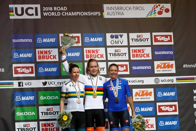 Анна ван дер Брегген – чемпионка мира-2018 в женской групповой гонке