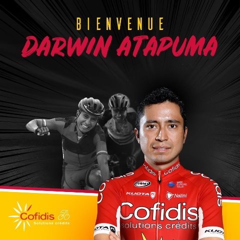 Дарвин Атапума переходит в команду Cofidis