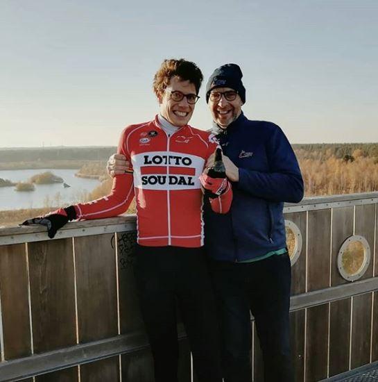 Стиг Брукс вернулся на велосипед впервые после комы