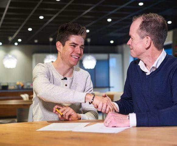 Ваут ван Арт подписал контракт с командой Jumbo-Visma
