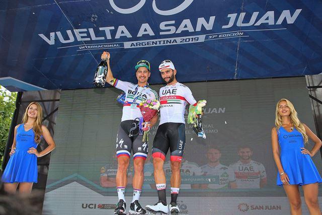 Гонщики команды  Deceuninck-QuickStep не вышли на церемонию награждения после 4 этапа Вуэльты провинции Сан-Хуан-2019