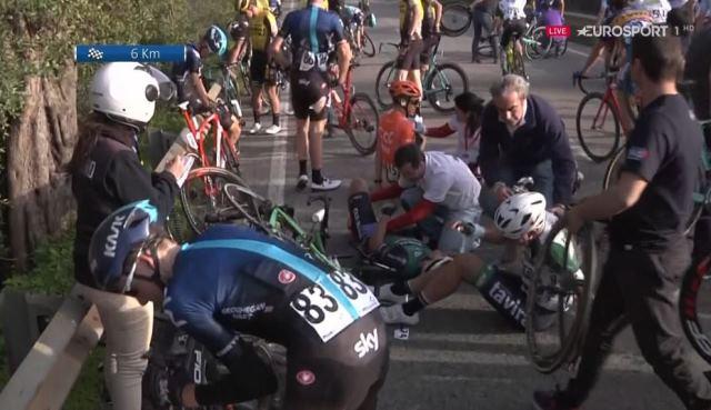 Эдди Данбар сошёл после завала на 1-м этапе Вольты Альгарве-2019