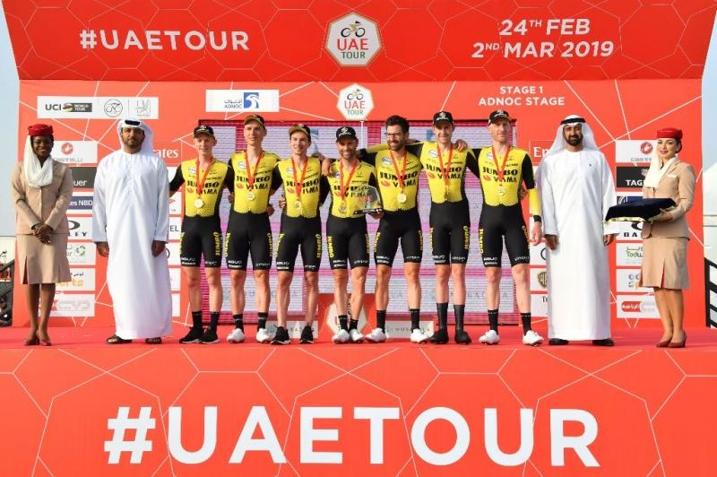 Команда Jumbo-Visma – победитель 1 этапа Тура ОАЭ-2019