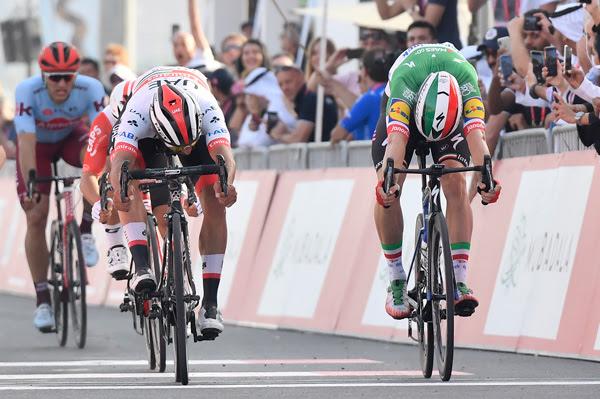 Фернандо Гавирия, Элиа Вивиани, Примож Роглич о 2-м этапе Тура ОАЭ-2019