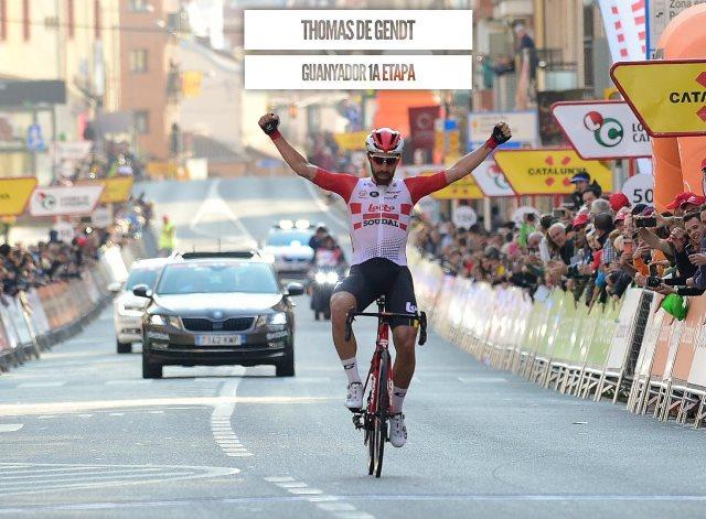 Томас Де Гендт – победитель 1 этапа Вуэльты Каталонии-2019