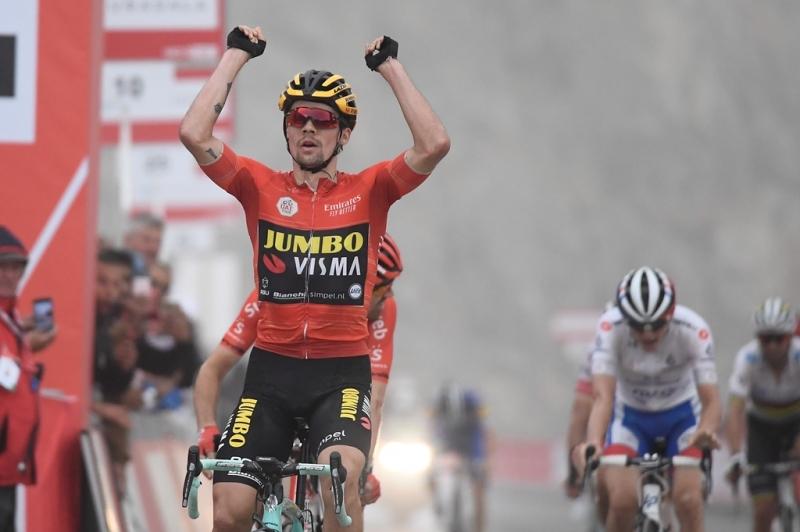Примож Роглич, Том Дюмулин, Давид Годю, Алехандро Вальверде о 6-м этапе Тура ОАЭ-2019