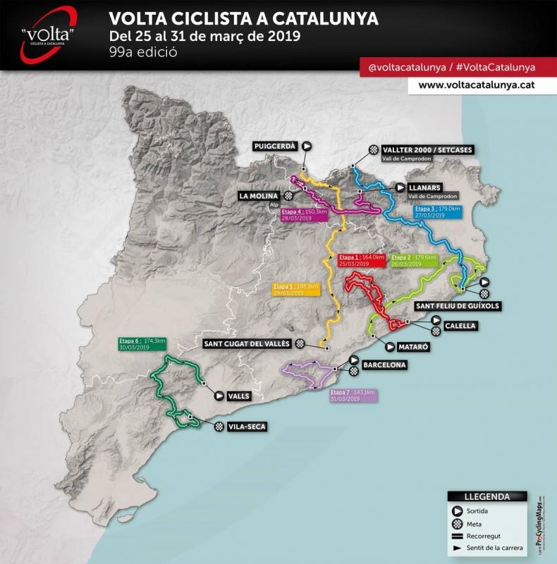 Вуэльта Каталонии-2019. Маршрут