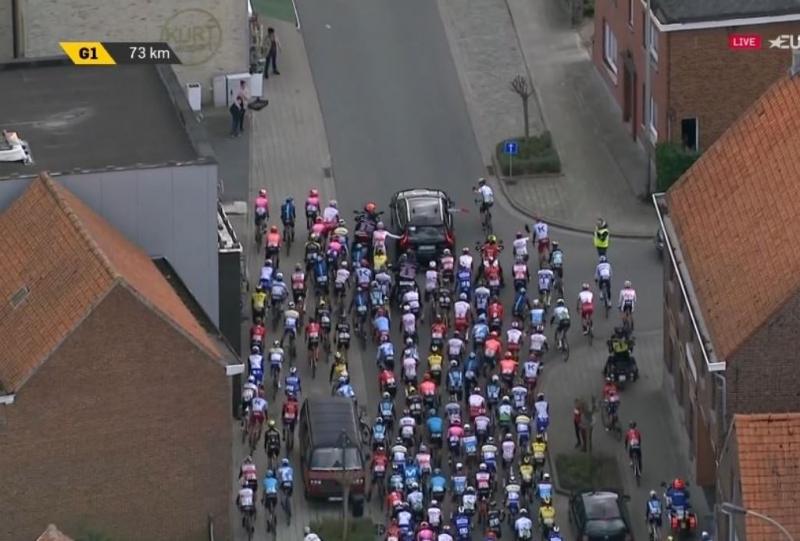 Две нейтрализации и погоня Лукаса Пёстльбергера за отрывом на Dwars door Vlaanderen-2019