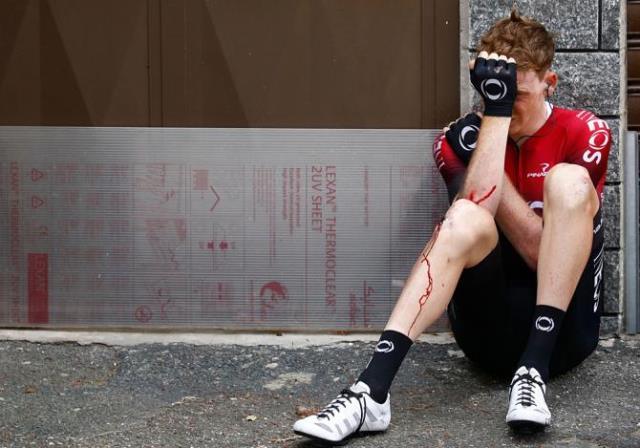 Тео Геоган Харт был вынужден сойти с гонки после падения