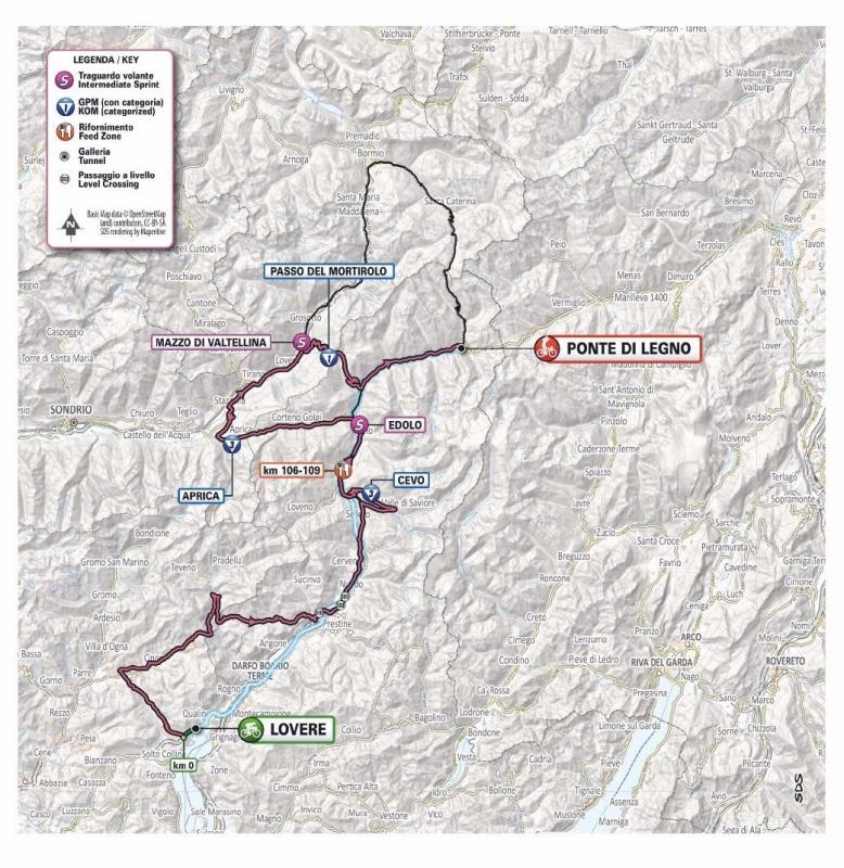 Новый маршрут 16 этапа Джиро д'Италия-2019