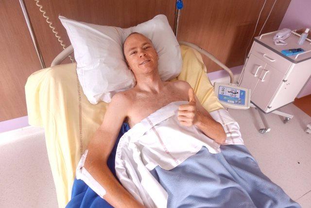 Крис Фрум, находясь в больнице, поблагодарил за ошеломляющую поддержку