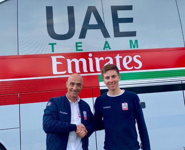 Тадей Погачар продлил контракт с командой UAE Team Emirates