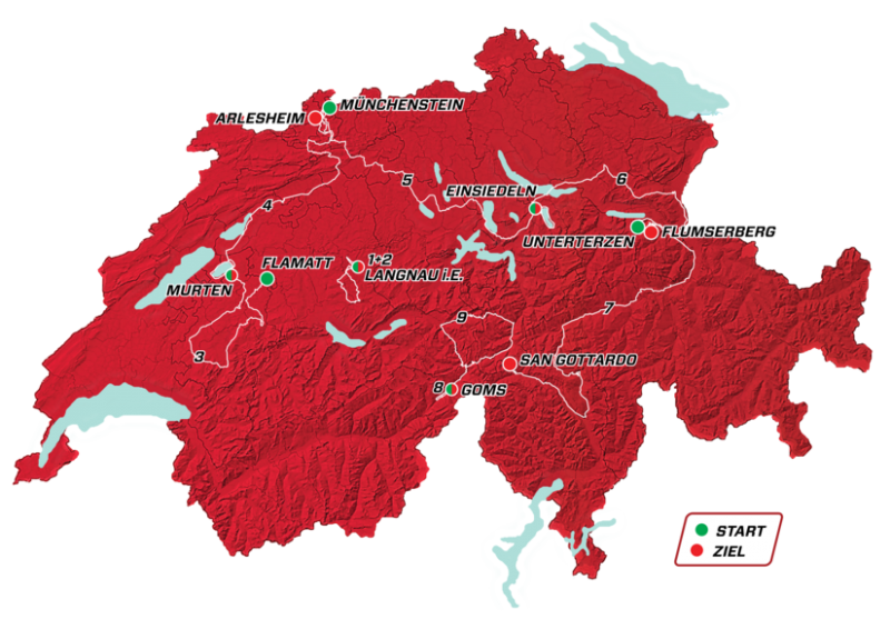 Тур Швейцарии-2019. Маршрут