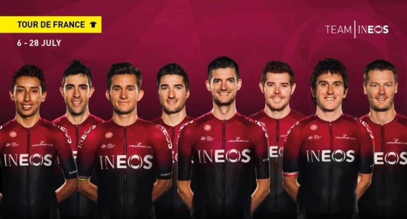 Состав команды Ineos на Тур де Франс-2019