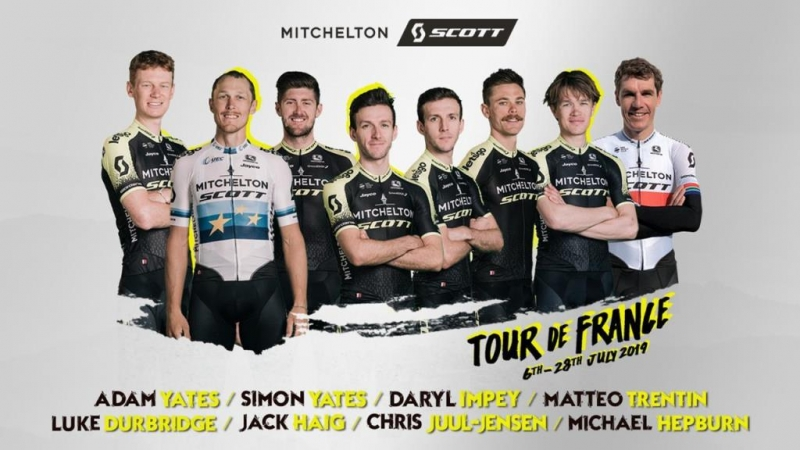 Состав команды Mitchelton-SCOTT на Тур де Франс-2019