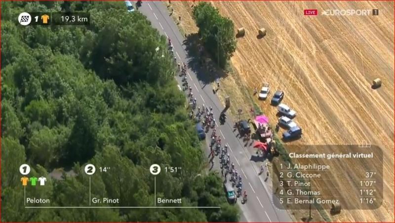 Микель Ланда потерял время из-за падения на 10-м этапе Тур де Франс-2019