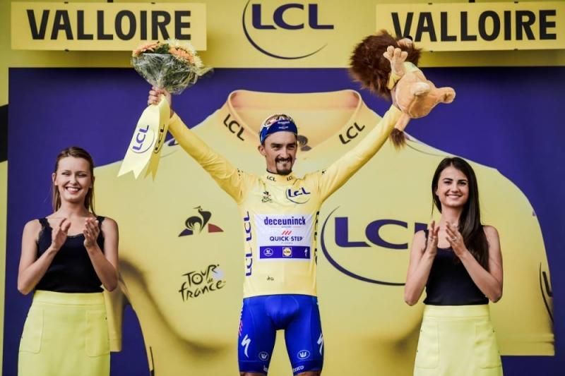 Жулиан Алафилипп защитил жёлтую майку на  горном 18 этапе Тур де Франс-2019